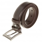 Stylish Bonded Cow Leather Men's Belt w/ Metal Buckle - Coffee