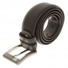 Stylish Bonded Cow Leather Men's Belt w/ Metal Buckle - Black
