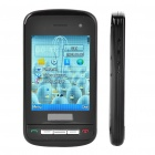 "C6 3.0"" Touch Screen Triple SIM Tripe Network Standby Quadband TV Cell Phone - Black"
