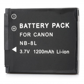 """Replacement NB-8L 3.7V """"1200mAh"""" Battery Pack for Canon PowerShot A3100/A3000 IS"""