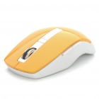 2.4GHz Wireless 800/1200/1666DPI Optical Mouse w/ USB Receiver - Orange + White (2 x AAA)