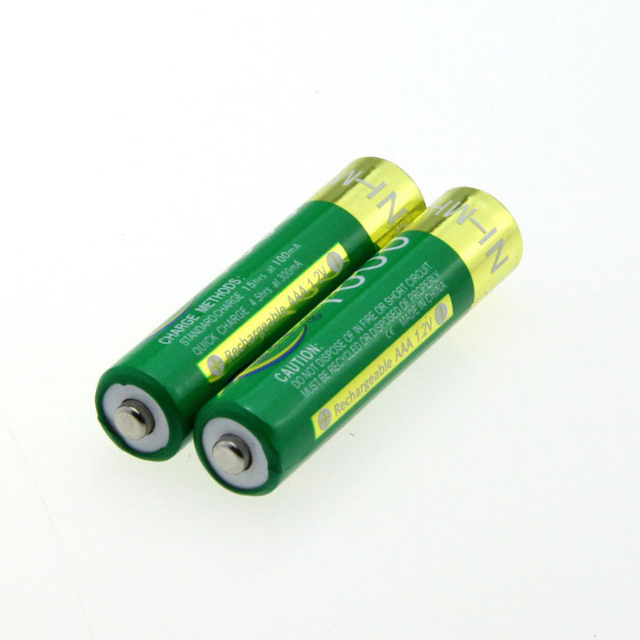 BTY Rechargeable 1.2V 1000mAh Ni-MH AAA Batteries (Pair) 8pcs pkcell battery aaa pre charged nimh 1 2v 1200mah ni mh 3a rechargeable batteries up to 1000mah capacity cycle 1200times
