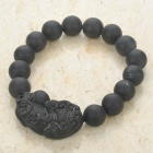 Natural Bian Stone Pixiu Bead Bracelet for Men (20CM)