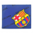 Football/Soccer Team Double-Fold PU Leather Wallet - Barcelona