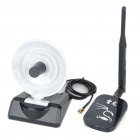 2000mW 2.4GHz 802.11b/g 54Mbps USB Wi-Fi Wireless Network Adapter w/ 6dBi & 10dBi Antennas