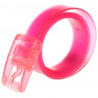 Fashion Transparent Rubber Belt for Young People - Random Color