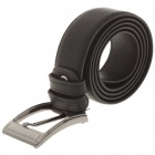 Fashion Men Leather Belt with Zinc Alloy Buckle - Black