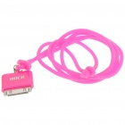 Fashionable Original Rock Light Bright Lanyard for iPhone/iPod/iTouch/Nano - Deep pink