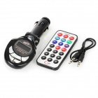 player transmissor FM de carro MP3 com slot SD e controle remoto IR - preto