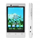 "X12 3.3"" Touch Screen Quad SIM Quad Network Standby Quadband Cellphone w/ Wifi - Silver"