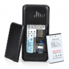 "A555 1.8"" LCD Screen Dualband GSM Cell Phone with Torch/FM/SOS for Senior Citizens - Black"