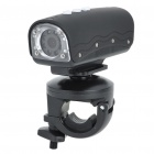 720P 5MP Wide Angle Waterproof Action Video Camera with 8-LED White Light & AV Out/TF - Black