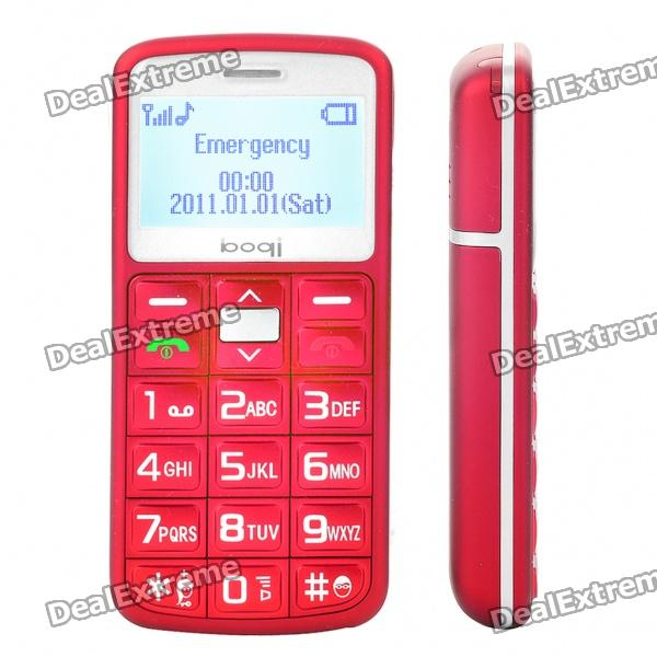 "L100 1.8"" LCD Screen Dualband GSM Cell Phone with Torch/FM/SOS for Senior Citizens - Red"