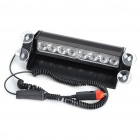 Car Powered 8-LED 3-Mode Red/Blue Flash Light (DC 10~15V)