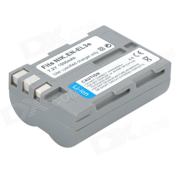 EN-EL3E 1500mAh Battery for Nikon D200/D100/D70/D50/D300/D90 - Grey