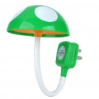 AC Powered Light Activated 4-LED White Light Flexible Night Lamp - Random Style (250V)