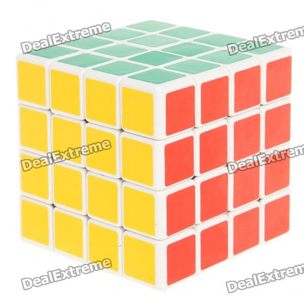 New 4x4x4 Brain Teaser Magic IQ Cube - White Base new dayan gem cube vi magic cube black and white professional pvc