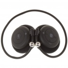 USB Rechargeable MP3 Player Bluetooth Headset w/ FM/TF- Black