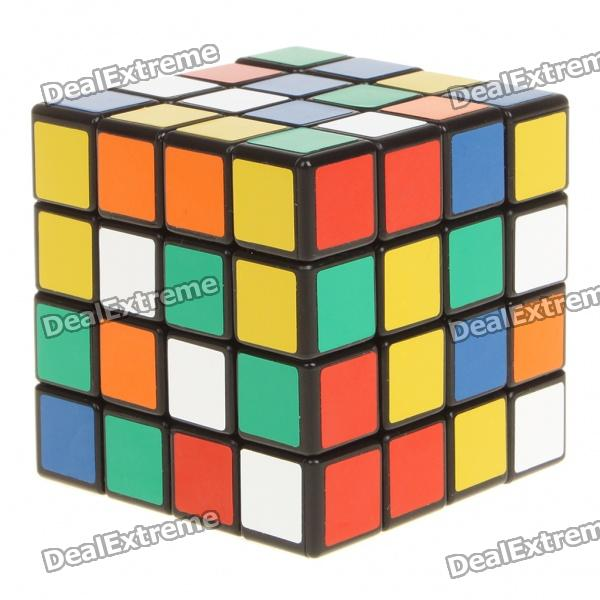 New 4x4x4 Brain Teaser Magic IQ Cube - Black Base new dayan gem cube vi magic cube black and white professional pvc