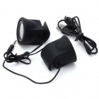 Mini USB Rechargeable Clip-On Speakers for Ipad/Iphone - Black (3.5mm Audio Jack/50cm-Length)