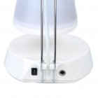 USB/3xAAA Powered Touch Sensor 12-LED White Light Desktop Lamp with Mini Speaker - White