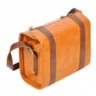 Vintage Protective PU Leather One Shoulder Camera Carrying Bag - Brown