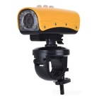 RD32 720P 5MP Weitwinkel Wasserdichte Action Video-Kamera mit 8-LED White Light / AV Out / TF - Yellow