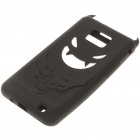 Creative Devil Protective Silicone Back Case for Samsung Galaxy S2/i9100 - Black