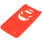 Creative Devil Protective Silicone Back Case for Samsung Galaxy S2/i9100 - Red