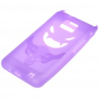 Creative Devil Protective Silicone Back Case for Samsung Galaxy S2/i9100 - Purple