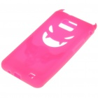 Creative Devil Protective Silicone Back Case for Samsung Galaxy S2/i9100 - Pink