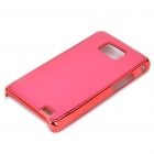 Protective Aluminum Wiredrawing Back Case for Samsung i9100 Galaxy S2 - Red