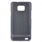 Protective Aluminum Wiredrawing Back Case for Samsung i9100 Galaxy S2 - Black