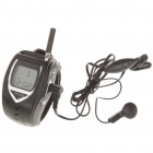 "FreeTalker 1.1"" LCD Rechargeable Walkie Talkie Watches Set - Black (Pair)"