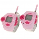 "FreeTalker 1.1"" LCD Rechargeable Walkie Talkie Watches Set - Pink (Pair)"