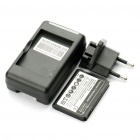 Li-ion Battery USB Charging Dock Station with EU Plug for HTC Status/Chacha/G16/A810E - Black