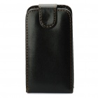 Protective PU Leather Case for Samsung S5830 - Black