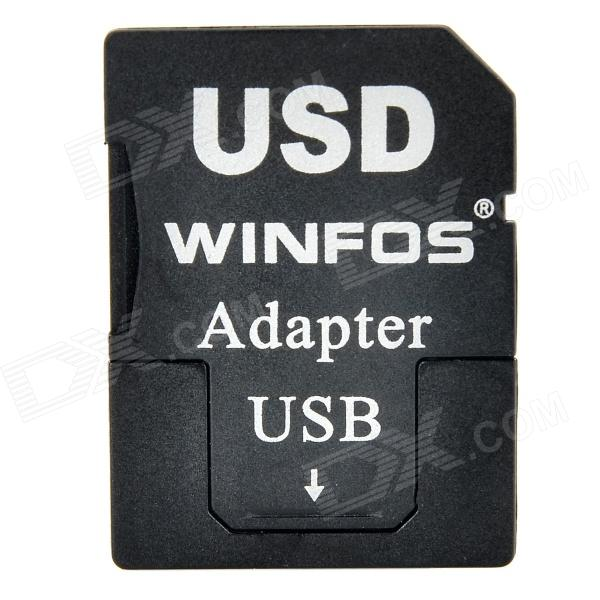Multifunctional TF Card to SD Card Adapter & USB Pendrive - Black