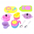 Buy Plastic Kitchen Ware Toy Set for Children - Colorful (7-Piece Pack)