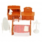 Cute Dollhouse Furniture Set Toys (Set of 7)