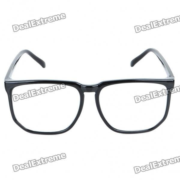 Fashion Unisex Resin Lens Plastic Frame Glasses Goggle