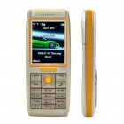 "Vertu 2.0"" LCD Screen Dual SIM Dual Network Standby Quad-band Cellphone - Yellow + Grey"