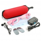 Stylish Rechargeable 280mAh MP3 Music Player + Bluetooth Function Sunglasses - Pink