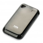 Protective PC + TPU Dual Color Soft and Hard Back Case Special for Samsung i9000 - Black