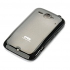 Protective PC + TPU Soft + Hard Back Case w/ Screen Guard for HTC Chacha G16 - Black + Grey