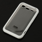Protective PC + TPU Soft + Hard Back Case w/ Screen Guard for HTC G11 - White