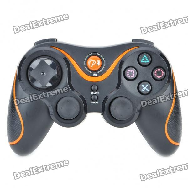 Bluetooth SIXAXIS DualShock Wireless Controller para PS3 - Negro + Naranja