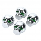 Alien Head Style Tire Valve Caps (4-Piece Pack)