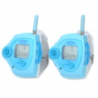 "1.1"" LCD Rechargeable Fashion Watch Style Walkie Talkie Set - Blue (Pair)"