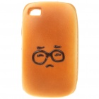 Emulational Bread Style Protective Case for iPhone 4 - Glasses Pattern